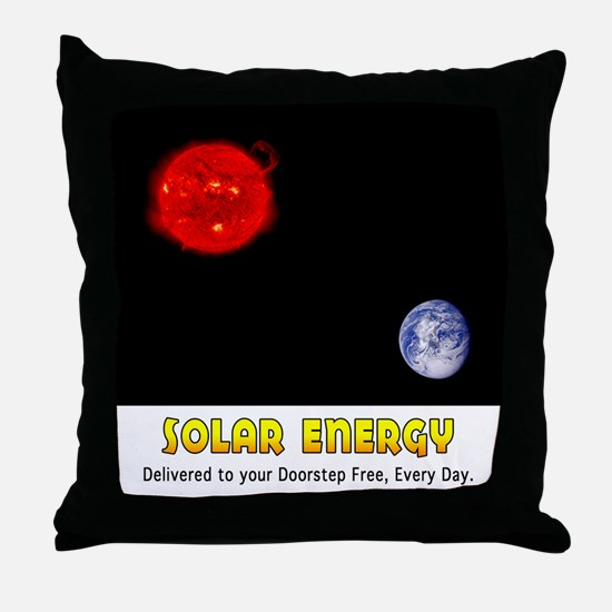 Solar Energy: Free Delivery Throw Pillow