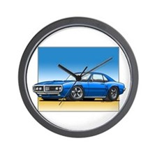 Blue 67-68 Firebird Wall Clock