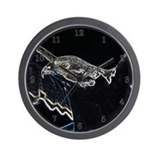 Black/Neon Augur Wall Clock (Small)