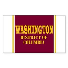 Washington DC Rectangle Decal