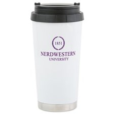 Nerdwestern University Travel Coffee Mug