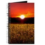 Scenic Sunflowers Sunset Field Floral Journal