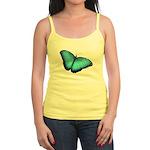 Blue Morpho Butterfly Jr. Spaghetti Tank