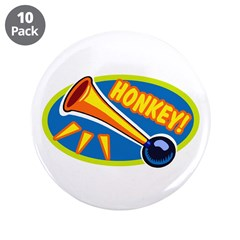 """HONKEY! 3.5"""" Button (10 pack)"""