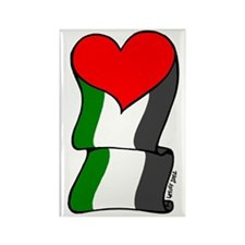 Love Palestine Rectangle Magnet