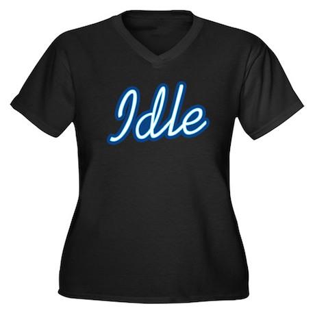 Idle Women's Plus Size V-Neck Dark T-Shirt