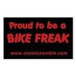 "Bike Freak (Rectangle 50 pk) 3"" x 5"""