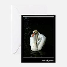 """""""White Swan"""" Greeting Card"""