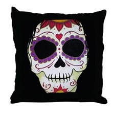 Banshee Sugar Skull Throw Pillow