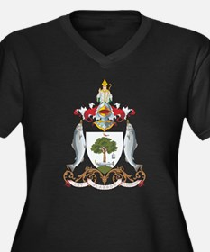 Glasgow Coat of Arms Women's Plus Size V-Neck Dark