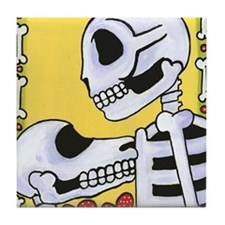 Day of the Dead Best Friends Tile Coaster