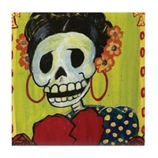 Frida Day of the Dead Tile Coaster