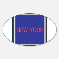 New York Blue and Red Oval Decal