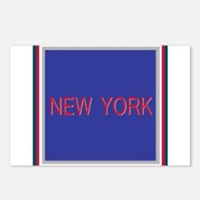 New York Blue and Red Postcards (Package of 8)
