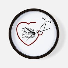 Ortho Chicks Wall Clock