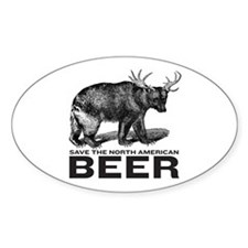 Save Beer Oval Bumper Stickers