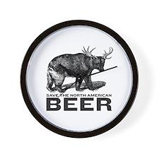 Save Beer Wall Clock