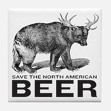 Save Beer Tile Coaster