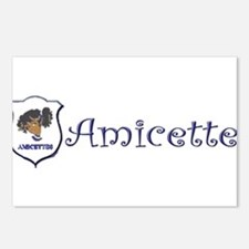Amicette Curls Postcards (Package of 8)