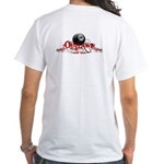 8 Ball Outlaws White T-Shirt