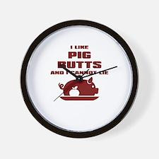 BBQ: I Like Pig Butts Wall Clock