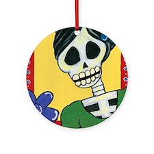 Penelope Sugar Skull Ornament (Round)
