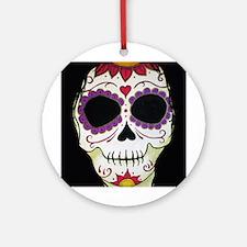 Banshee Sugar Skull Ornament (Round)