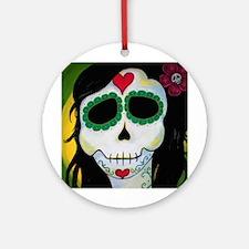 Madame La Fee Sugar Skull Ornament (Round)