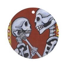 Skeletons in Love Ornament (Round)