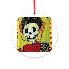 Frida Ornament (Round)