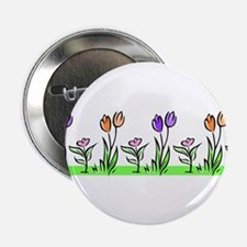 "PASTEL TULIPS 2.25"" Button"