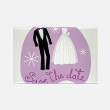 SAVE THE DATE (1) Rectangle Magnet