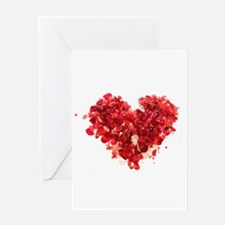 FLORAL HEART (4) Greeting Card