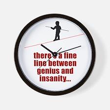 Fine Line Between Genius and Wall Clock