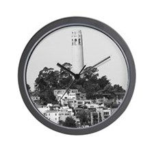 San Francisco Gifts Coit Tower BW Wall Clock