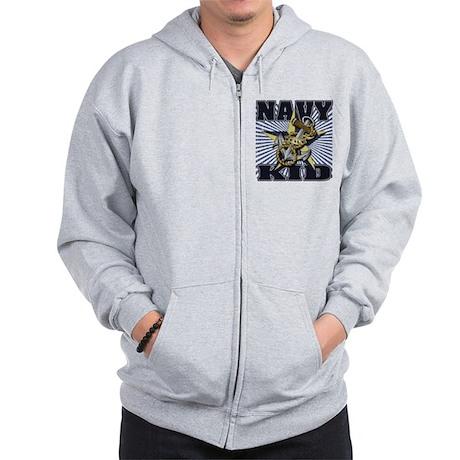 Navy Kid Zip Hoodie