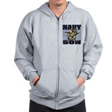 Navy Son Zip Hoodie