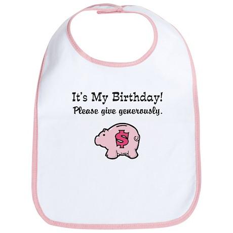 It's My Birthday Give Money Bib