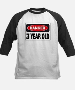 3 Year Old Danger Sign Tee