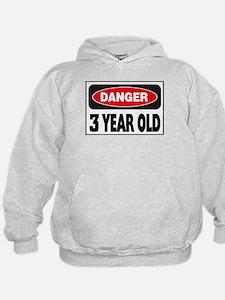 3 Year Old Danger Sign Hoodie