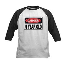 4 Year Old Danger Sign Tee