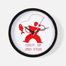 Shut Up And Fish! Wall Clock