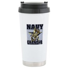 Navy Grandpa Travel Mug