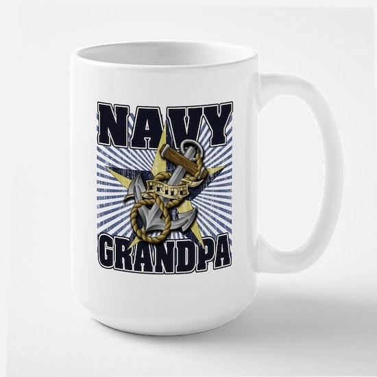 Navy Grandpa Large Mug