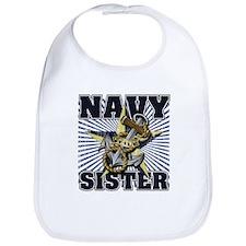 Navy Sister Bib