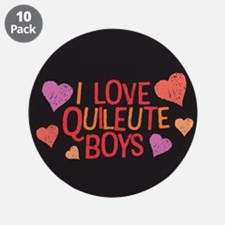 "I Love Quileute Boys 3.5"" Button (10 pack)"