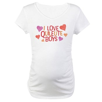 I Love Quileute Boys Maternity T-Shirt