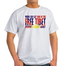 Funny Free Tibet T-Shirt
