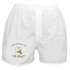 O Hai Lolcats Humor Boxer Shorts