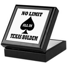 Poker - Texas Holdem Keepsake Box